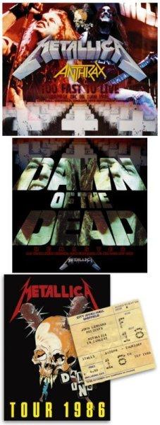 """画像1: METALLICA/ANTHRAX - TOO FAST TO LIVE(3CD + Ltd Bonus CDR """"DAWN OF THE DEAD REMASTER"""" + UK Tour Programme & Ticket replica) (1)"""