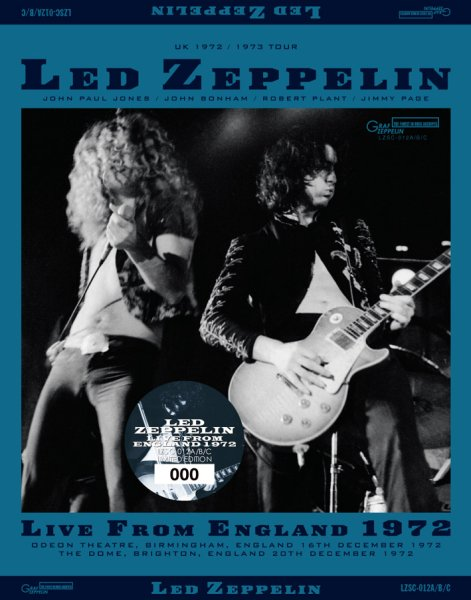 画像1: LED ZEPPELIN - LIVE FROM ENGLAND(3CD) (1)
