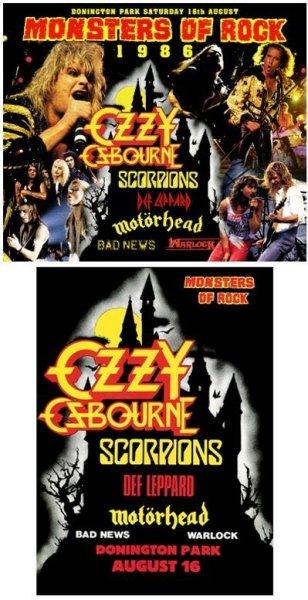 画像1: OZZY OSBOURNE/SCORPIONS/DEF LEPPARD/MOTORHEAD/BAD NEWS/WARLOCK - MONSTERS OF ROCK 1986(6CD + Programme Replica) (1)